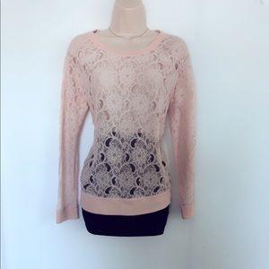 Loft lace long-sleeve top